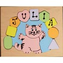 Personalized Cat Puzzle, Personalized Kids Toys | Baby Toys | ABaby.com