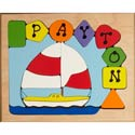 Personalized Sailboat Puzzle, Personalized Kids Toys | Baby Toys | ABaby.com