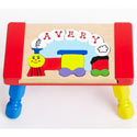 Personalized Train Puzzle Stool, Train And Cars Themed Nursery | Train Bedding | ABaby.com