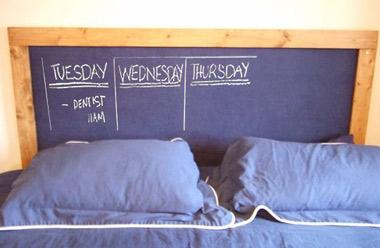 chalkboard bedboard