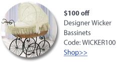 wicker bassinet sale