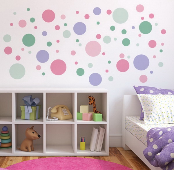 DIY Polka Dot Wall Decor