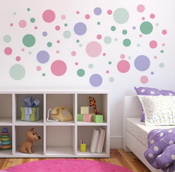 Diy Polka Dot Wall Decor For Nursery Kids Baby Room