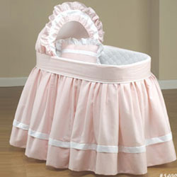 Sweet Petite Pink Bassinet Set