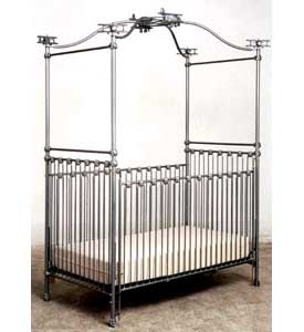 Airplane Iron Baby Crib