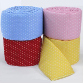 Baby Polka Dotted Crib Bumpers