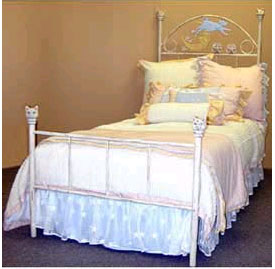 Cow Over the Moon Iron Twin Bed