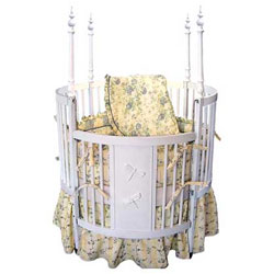 Dragon Fly Finial Round Crib
