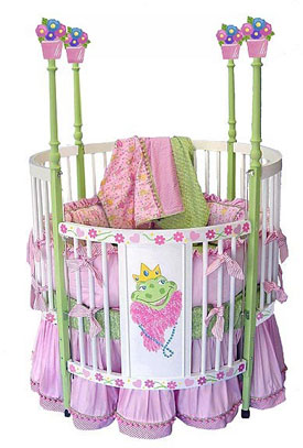 Frog Princess Round Crib