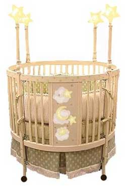 Twinkle Star Round Cribs