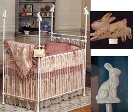 Bunny Rabbit Iron  Crib