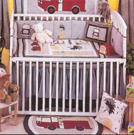 Firetruck Crib Bedding