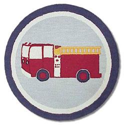 Firetruck Round Rug