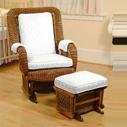 Wicker Square-Back Glider