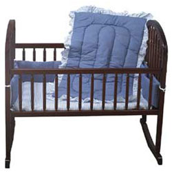 Chambray Portable Crib Bedding