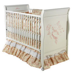 Childs Play Handpainted Sleigh Crib is Art for Your Baby's Nursery