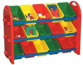 Ffteen Bin Toy Organizer