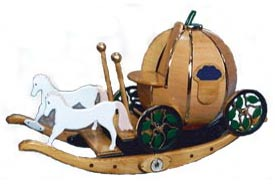 Cinderella's Carriage Toy Box Rocker