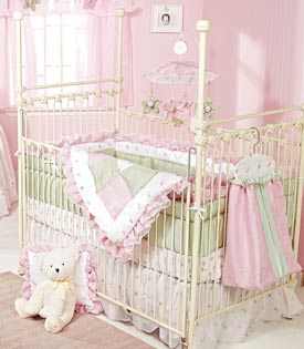 Four Poster Iron Baby Crib