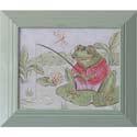 Frog Gone Fishing Artwork