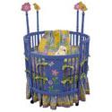 Springtime Round Crib
