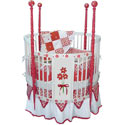 Summertime Round Crib Bedding