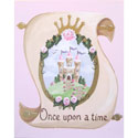 Once Upon a Time Princess Scroll Canvas Reproduction