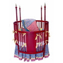 Fire Alarm Round Crib Bedding