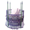 Highland Heather Round Crib Bedding