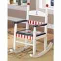 Nautical Anchor and Sailing Boat Rocking Chair
